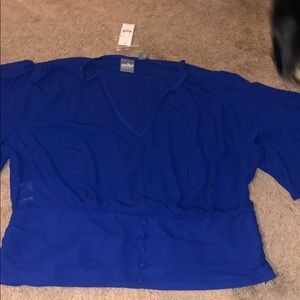 NEVER WORN NY & CO ROYAL BLUE BLOUSE